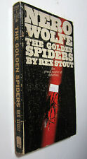 Rex Stout Nero Wolfe Mystery #22 - The Golden Spiders (1969 Bantam Pb 5th) Good-