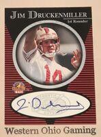 1997 Score Board Jim Druckenmiller Auto Autographed Rookie Card RC