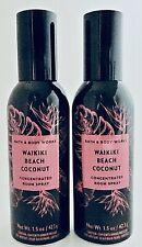 2 BATH & BODY WORKS WAIKIKI BEACH COCONUT CONCENTRATED ROOM SPRAY 1.5oz