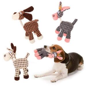 Soft Plush Chew Chubby Animal Pet Chew Toy Dog Cat Puppy Play Toys Training FW