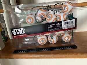 Star Wars BB-8 Christmas Holiday Light Set by Kurt Adler 10 Lights New