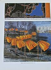 Christo & Jean Claude of The Gates Project Poster 3 Offset Lithograph 14x11