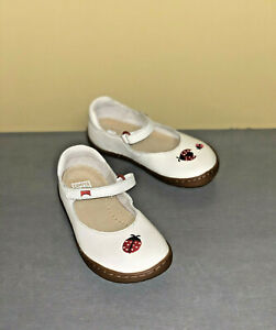 Baby Shoes Camper Twins Beige Leather Mary Janes Adjustable First Walker Shoes
