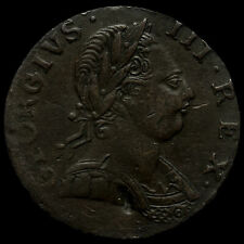 More details for 1775 george iii early milled copper halfpenny