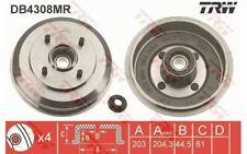 2x TRW Freno a tamburo Posteriore per FORD FIESTA DB4308MR - Mister Auto