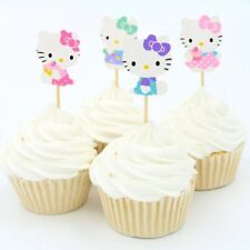 NEW Hello Kitty Theme Character Cupcake Toppers x 24 - For Parties