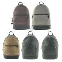 Coach Mens (F78756 F72510 F79961) West Slim Leather Backpack Bag