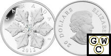2012 Holiday Crystal Snowflake Prf $20 Silver Coin 1oz 9999 Fine *No Tax (13079)