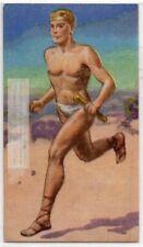 Marathon Race Pheidippides Athens Sparta Greece 1930s Ad Trade Card