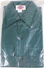 NEW VTG 90s DICKIES Long Sleeve WORK SHIRT 14-14.5 / 32 Forest Green USA Made !