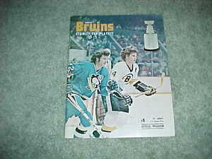 1975 Stanley Cup Playoff Program 4/8 Boston Bruins v Chicago Blackhawks