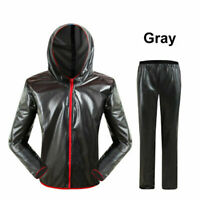 Men Outdoor WaterResistant Motorcycle Riding Raincoat Rain Pants Suit 4 Colors