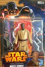 Star Wars Saga Legends MACE WINDU Revenge of the Sith Figure Hasbro SL01 NEW