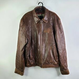 Couture by J. Park Brown Soft Lamb Leather Bomber Jacket Size L