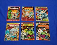 THE DEFENDERS Lot of 6 comics #1,4,5,6,12 King Size Annual #1 Marvel Key