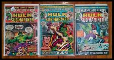 The incredible Hulk - Marvel Superheroes #32, 33, 54 - Sub-Mariner!