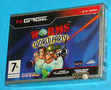 Worms World Party - Nokia N-Gage NGage - PAL New Nuovo Sealed