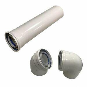 DN 80/125 mm Abgasrohr  Brennwert  Winkel Bogen Rohr/Abgassystem/Erdgasheizung#