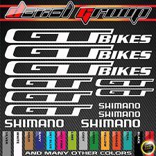 GT MTB Replacement Mountain Bike Frame Vinyl Decals Stickers Aufkleber Adesivi