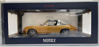 NOREV 187629 PORSCHE 911 S 2.4L TARGA diecast model car gold 1973 Ltd Ed 1:18th