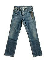 CITIZENS OF HUMANITY The Elson Mid Rise Straight Leg Slim Jeans Blue 25 $198 #76