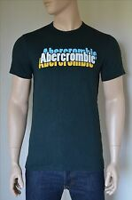 NUOVO ABERCROMBIE & FITCH Stampa Logo GRAPHIC TEE T-SHIRT VERDE M