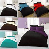 Plain Percale Duvet Cover Bedding Set Single Double King Including Pillow Cases