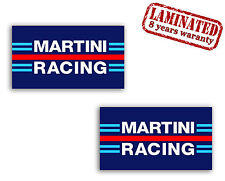 2 x MARTINI RACING AUFKLEBER STICKERS AUTO LANCIA ALFA MOTORRAD RALLY MOTO B 43