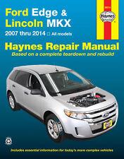 haynes ford edge and lincoln mkx 2007 thru 2013 repair manual (36014)