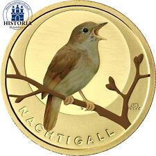 Deutschland 20 Euro Gold 2016 Heimische Vögel Nachtigall Mzz A im Etui in Farbe