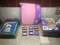 LeapFrog LeapPad Learning System Pink 9 Books/cartridges Plus 9 Separate Games