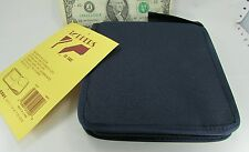 Toppers 5501 Navy Zipper CD Travel Cases, Storage 12 Sleeve Hold 24 DVD CD Disc