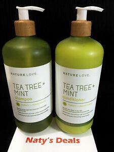 Nature Love - Tea Tree & Mint Shampoo & Conditioner 25 0z Each