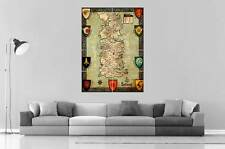 the_seven_kingdoms_of_westeros Game Of Thrones  Wall Art Poster Grand format A0
