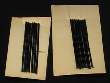 Vintage 14 Black Bobby Pins 1 13/16 Inches Long 2 cards 7 on each card NEW