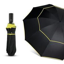 120CM Fully-Automatic Double Big Umbrella Rain Women 3Folding Wind Resistant