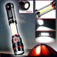 300LM COB LED Work Light Camping Inspection Lamp Magnetic Hand Torch Outdoor