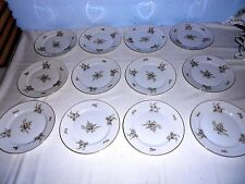 """12 Rosenthal 1960's Continental China COLONIAL ROSE 7 5/8"""" Salad Plates - Exc."""