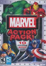 MARVEL ACTION PACK 10x Games Wolverine, Iron Man, Hulk,