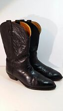 NOCONA MEN'S BLACK LEATHER WESTERN COWBOY BOOTS SIZE 11 EEE