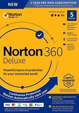 NORTON 360 Deluxe 2020 5 dispositivo 1 año 5 PC MAC Internet Security 2020