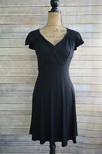 Coldwater Creek - BLACK Soft rayon stretch sundress V-neck CAP sleeves, size 6P