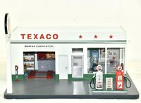 DANBURY MINT VINTAGE TEXACO MARFAK GAS STATION DIORAMA DISPLAY. 1:24