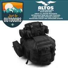 50L Mou Noir Tactical extérieur assaut militaire Sac à dos camping sac