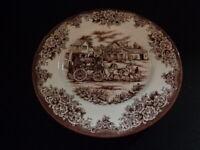 "Brown staffordshire transferware Plate Royal Stafford 11"" plate"