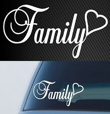 FAMILY STICKER DECAL LOVE CAR 4x4 ute WINDOW HEART 200mm
