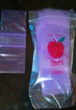 "1515 Apple Mini Bags Ziplock Baggies 200ct Top QUALITY Purple Color 1.5""×1.5"""