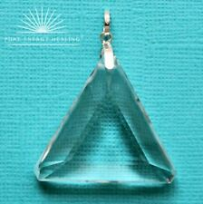 LARGE Clear Quartz Triangle Pendant Blessed Energised John of God Brazil