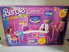 1986 Barbie 6 O'Clock News Play Set in Box - #7745 Arco New 35 Piece Playset