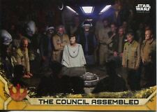 Star Wars Rogue One Series 2 Gold Base Card #41 The Council Assembled